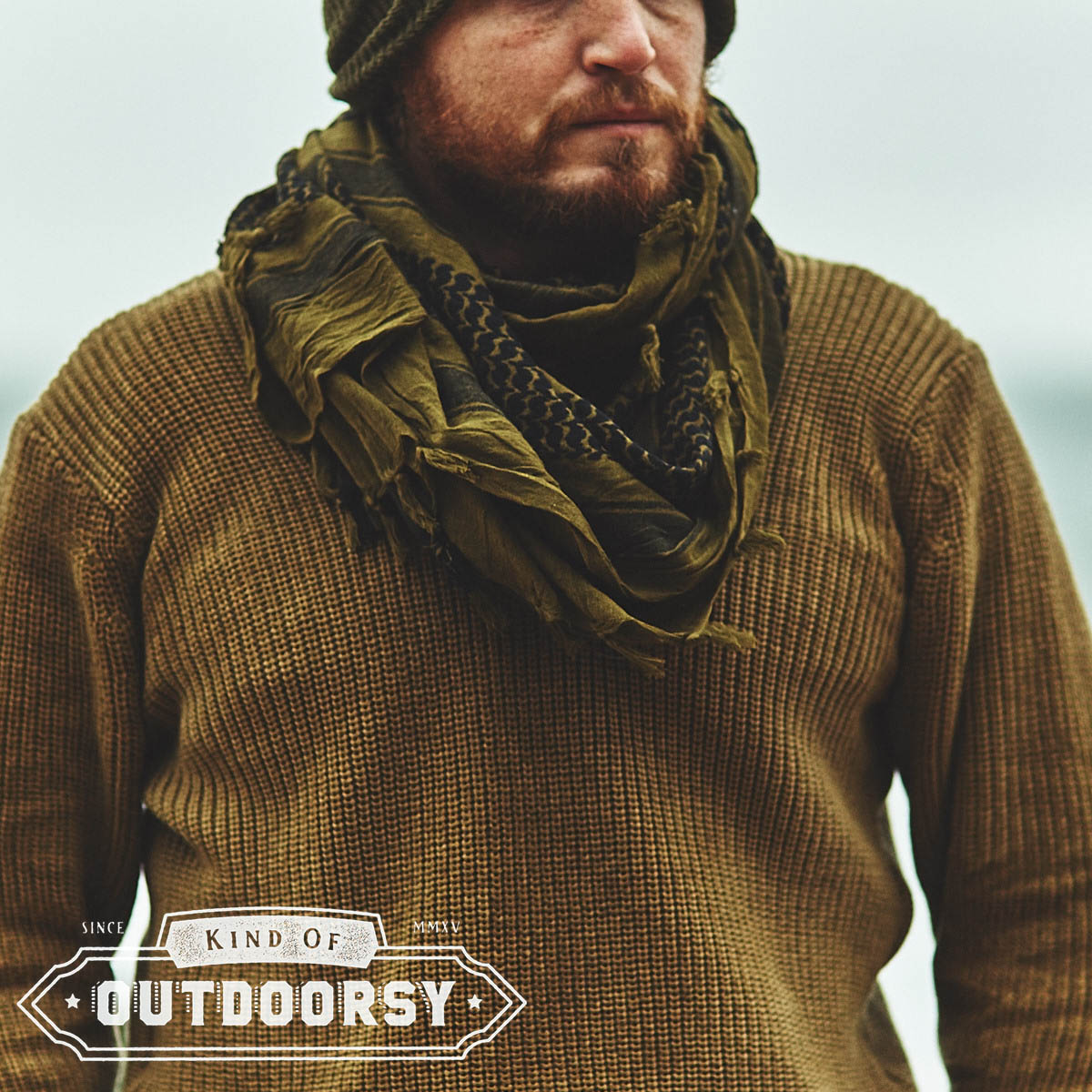 Heavyweight Shemagh Scarf In Olive Drab Black Kind Of